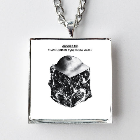 Against Me! - Transgender Dysphoria Blues - Album Cover Art Pendant Necklace - Hollee