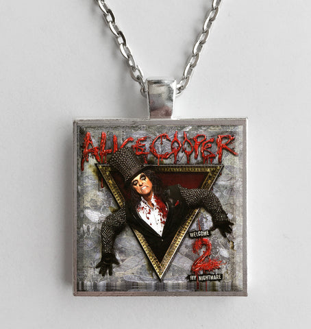 Alice Cooper - Welcome 2 My Nightmare - Album Cover Art Pendant Necklace - Hollee