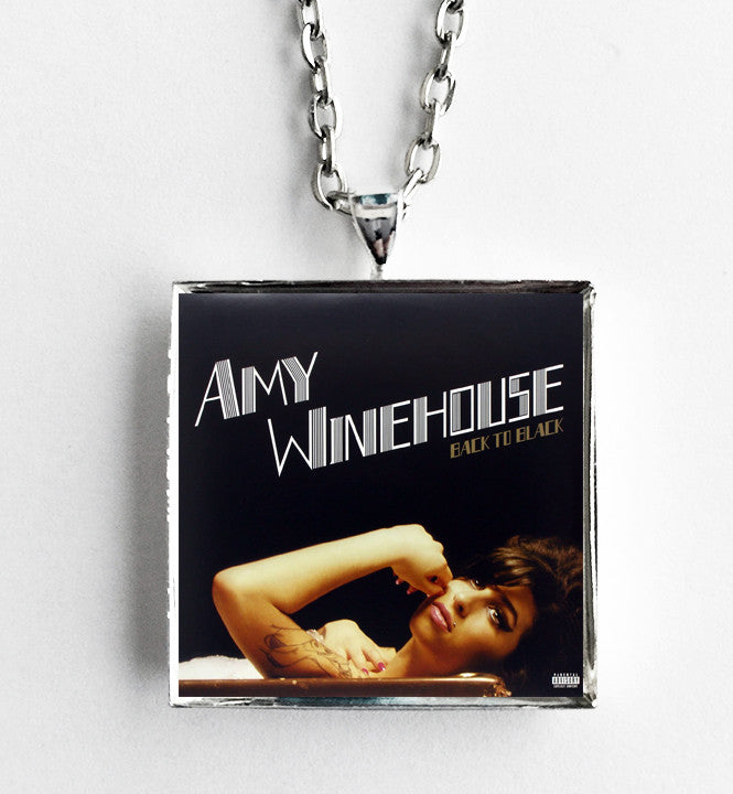 Amy Winehouse - Back to Black - Album Cover Art Pendant Necklace