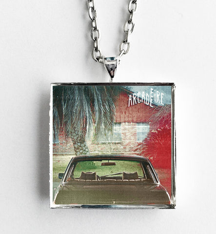 Arcade Fire - The Suburbs - Album Cover Art Pendant Necklace