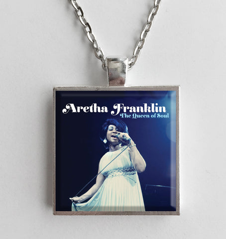 Aretha Franklin - Queen of Soul - Album Cover Art Pendant Necklace