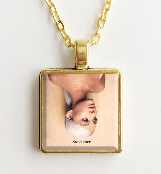 Ariana Grande - Sweetener - Album Cover Art Pendant Necklace (Gold) - Hollee