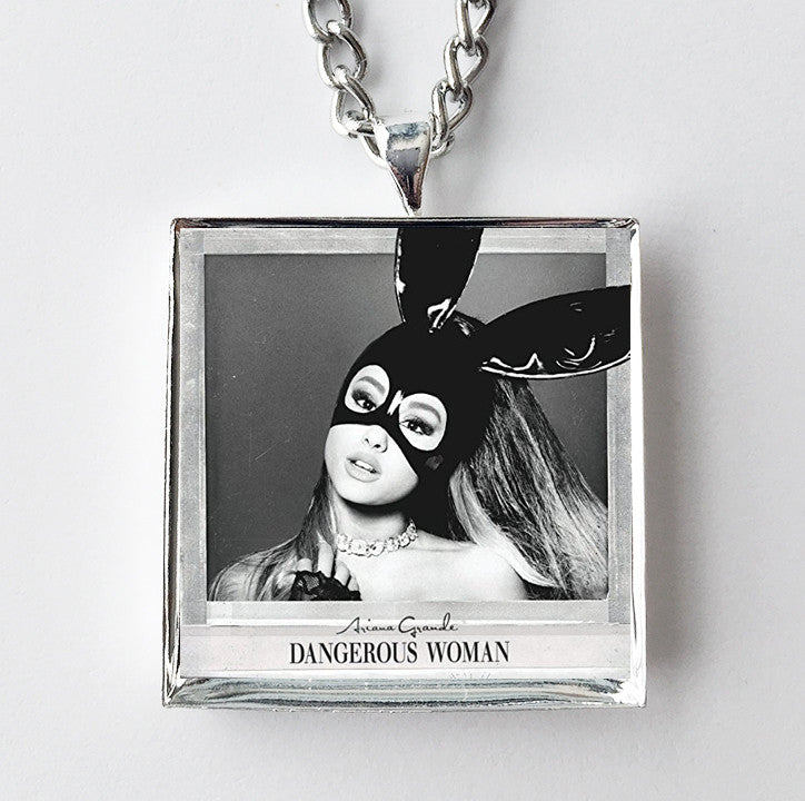 Ariana Grande - Dangerous Woman - Album Cover Art Pendant Necklace - Hollee