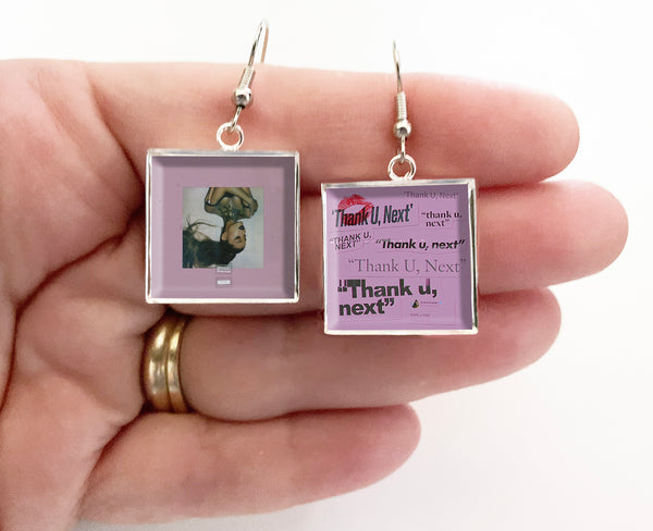 Ariana Grande - Thank U, Next - Album Cover Art Earrings - Hollee