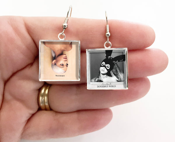Ariana Grande - Sweetener & Dangerous Woman - Album Cover Art Earrings - Hollee