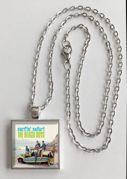 The Beach Boys - Surfin' Safari - Album Cover Art Pendant Necklace - Hollee
