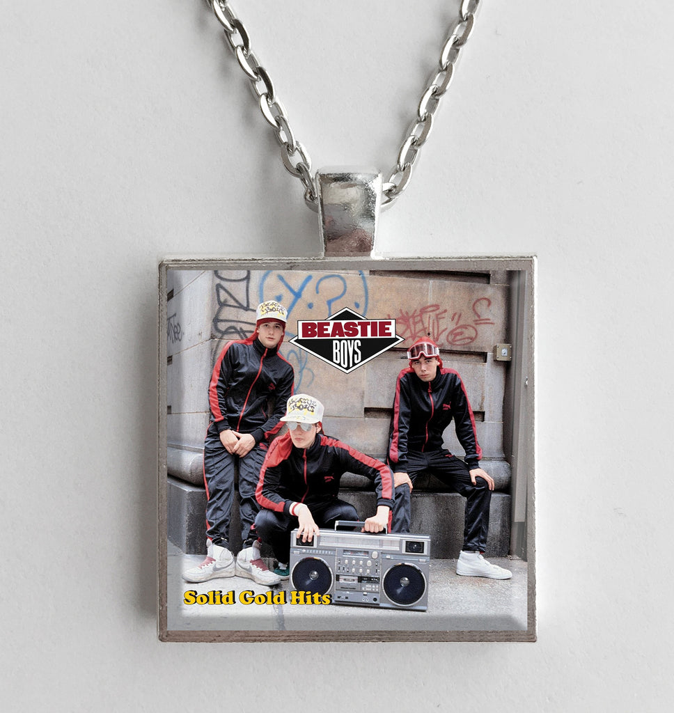 Beastie Boys - Solid Gold Hits - Album Cover Art Pendant Necklace - Hollee