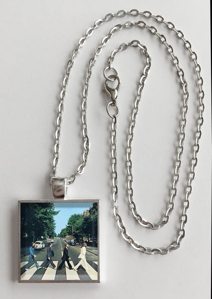 The Beatles - Abbey Road - Album Cover Art Pendant Necklace - Hollee