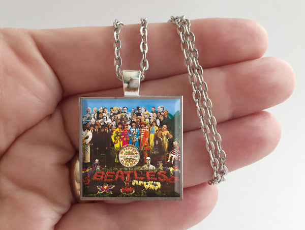The Beatles - Sgt. Pepper's Lonely Hearts Club Band - Album Cover Art Pendant Necklace