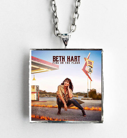 Beth Hart - Fire on the Floor - Album Cover Art Pendant Necklace - Hollee
