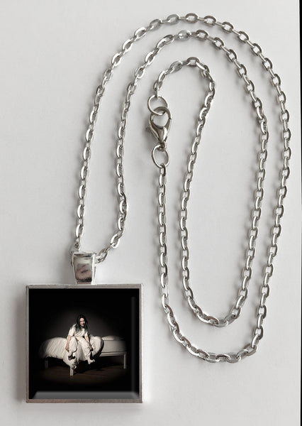 Billie Eilish - When We All Fall Asleep, Where Do We Go?  - Album Cover Art Pendant Necklace - Hollee