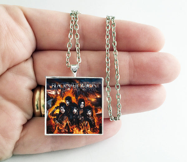 Black Veil Brides - Set the World on Fire - Album Cover Art Pendant Necklace - Hollee
