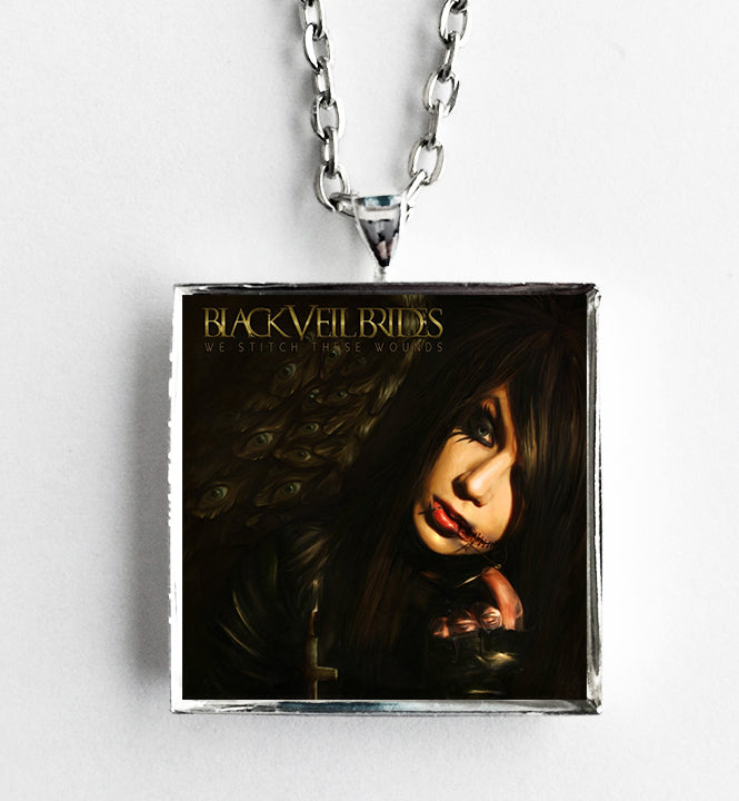 Black Veil Brides - We Stitch These Wounds - Album Cover Art Pendant Necklace - Hollee