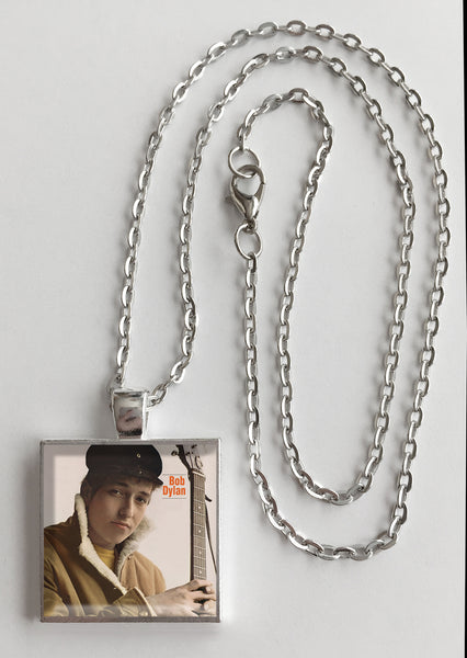 Bob Dylan - Self Titled - Album Cover Art Pendant Necklace - Hollee