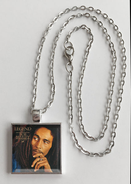 Bob Marley - Legend - Album Cover Art Pendant Necklace