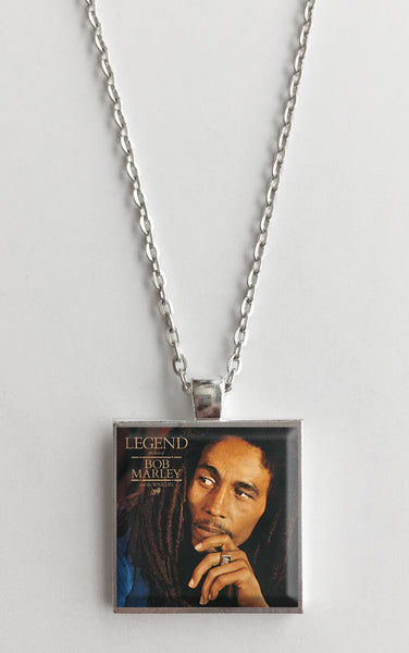 Bob Marley - Legend - Album Cover Art Pendant Necklace - Hollee
