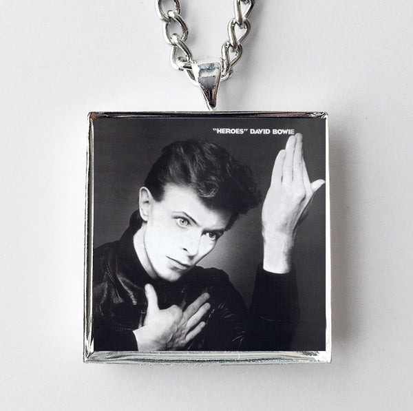 David Bowie - Heroes - Album Cover Art Pendant Necklace - Hollee