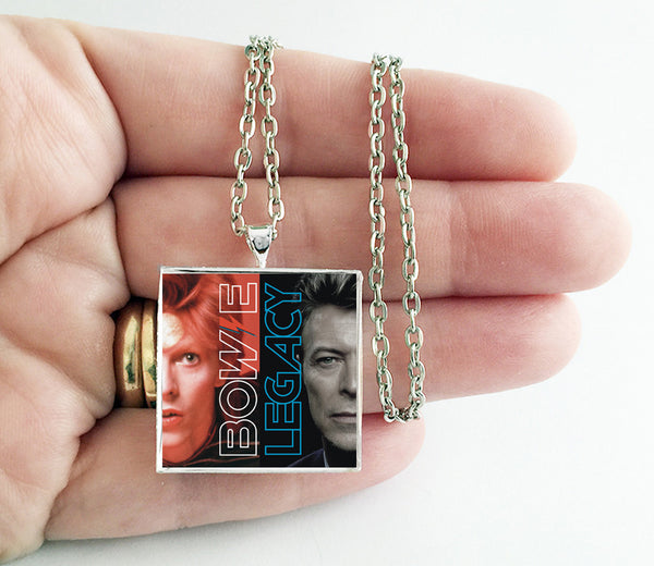 David Bowie - Legacy - Album Cover Art Pendant Necklace - Hollee