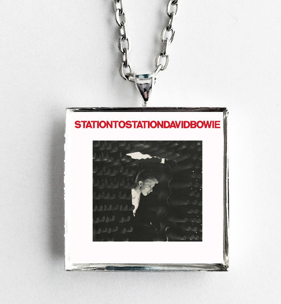 David Bowie - Station to Station - Album Cover Art Pendant Necklace - Hollee