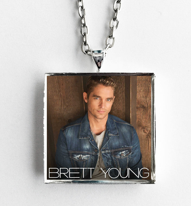 Brett Young - Self Titled - Album Cover Art Pendant Necklace - Hollee
