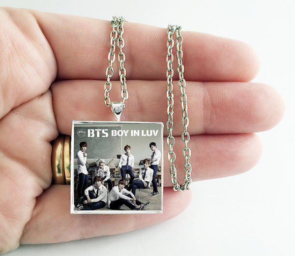 BTS Bangtan Boys - Boy in Luv (v2) - Album Cover Art Pendant Necklace - Hollee