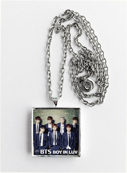 BTS Bangtan Boys - Boy in Luv (v1) - Album Cover Art Pendant Necklace - Hollee