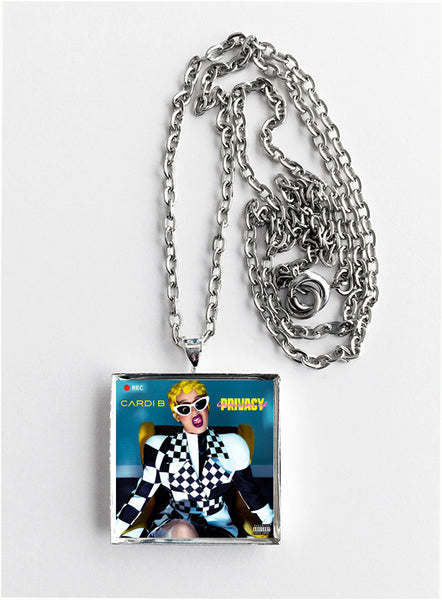 Cardi B - Invasion of Privacy - Album Cover Art Pendant Necklace - Hollee