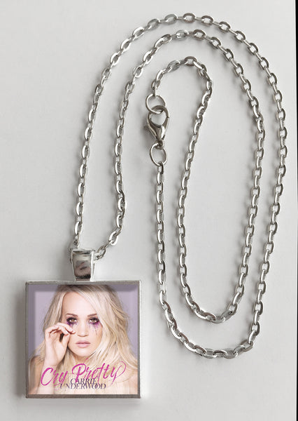 Carrie Underwood - Cry Pretty - Album Cover Art Pendant Necklace - Hollee