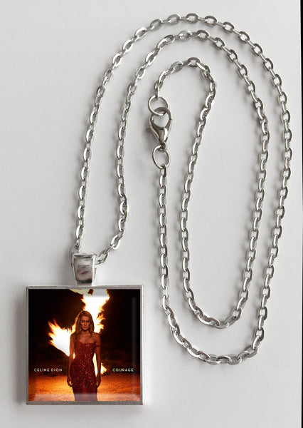 Celine Dion - Courage - Album Cover Art Pendant Necklace - Hollee
