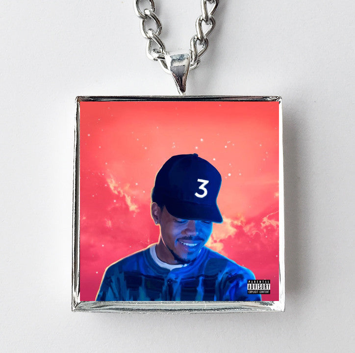 Coloring Book Album Chance The R Er : Chance the Rapper Coloring Book Album Cover Art Pendant Necklace Hollee