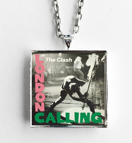 The Clash - London Calling - Album Cover Art Pendant Necklace - Hollee