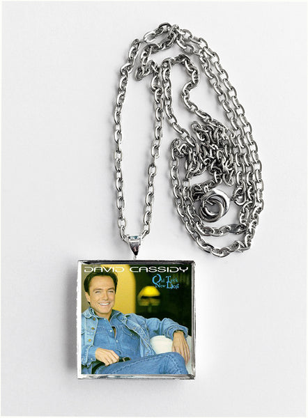 David Cassidy - New Dog Old Trick - Album Cover Art Pendant Necklace - Hollee