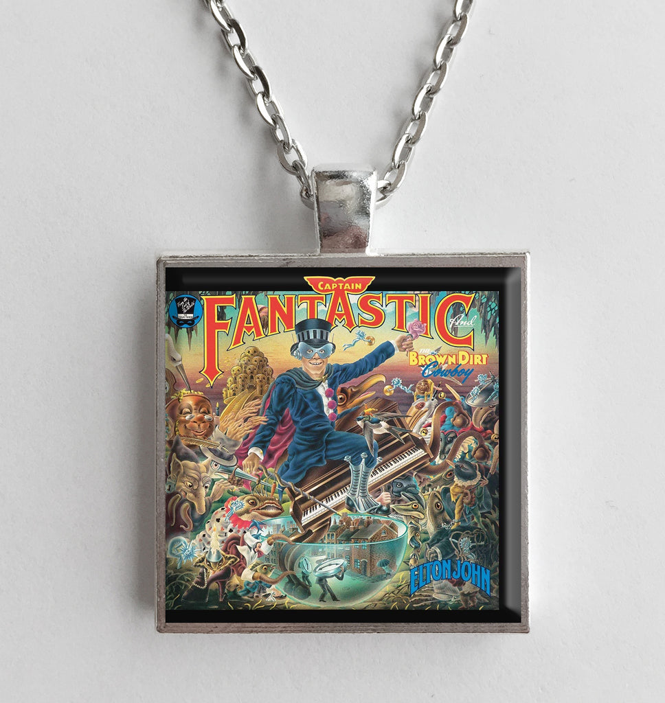 Elton John - Captain Fantastic - Album Cover Art Pendant Necklace - Hollee