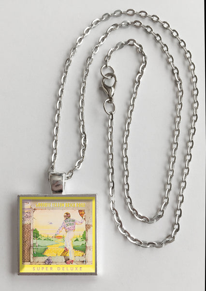 Elton John - Goodbye Yellow Brick Road - Album Cover Art Pendant Necklace - Hollee