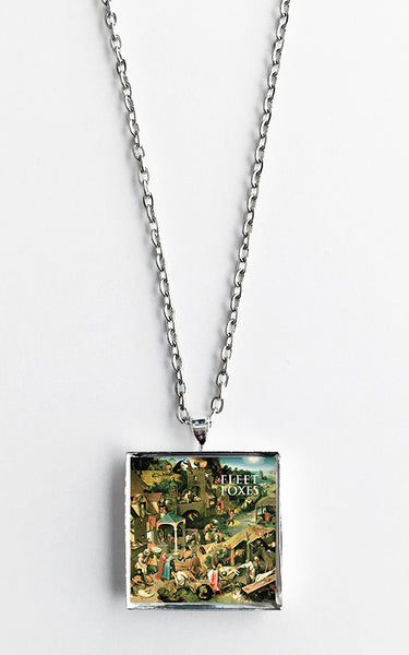 Fleet Foxes - Self Titled - Album Cover Art Pendant Necklace - Hollee