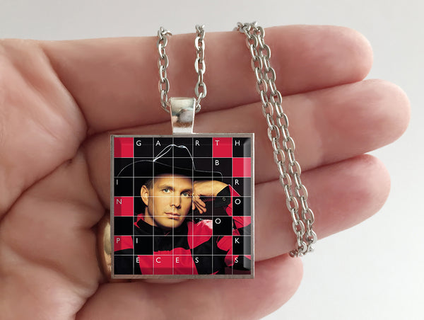 Garth Brooks - In Pieces - Album Cover Art Pendant Necklace
