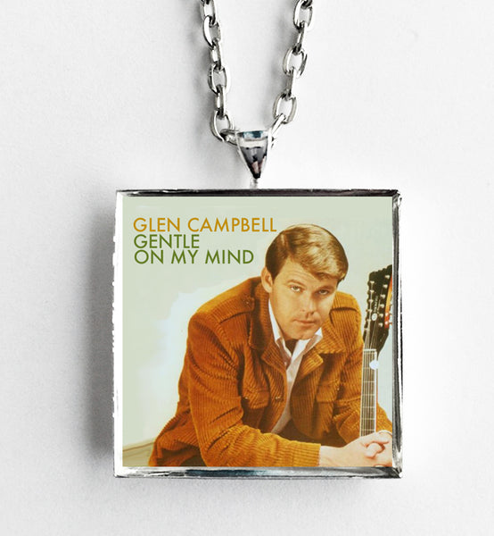 Glen Campbell - Gentle on My Mind - Album Cover Art Pendant Necklace - Hollee