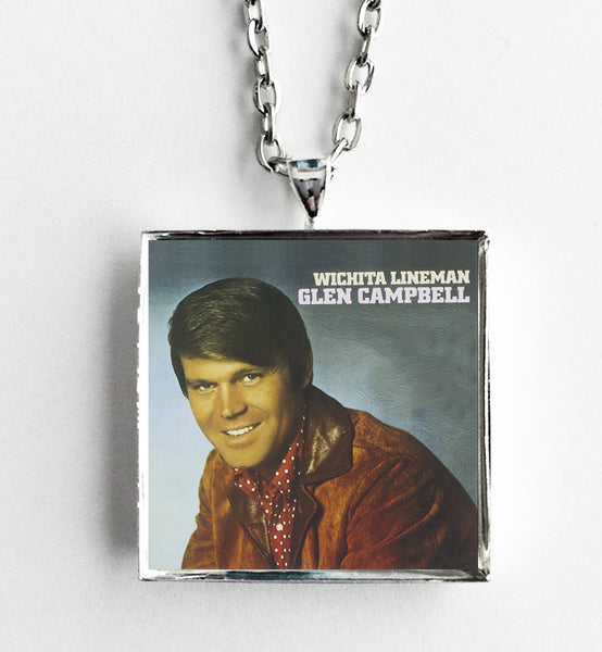 Glen Campbell - Wichita Lineman - Album Cover Art Pendant Necklace - Hollee