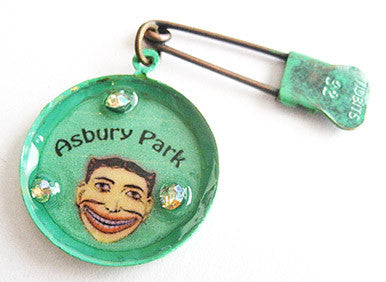 Asbury Park NJ Tillie Face Souvenir Trinket Pin