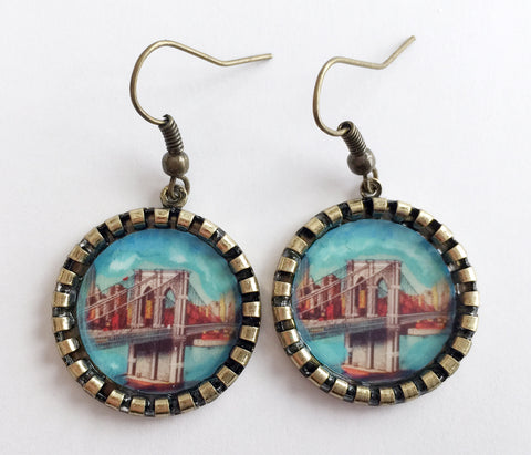 Brooklyn Bridge New York Earrings