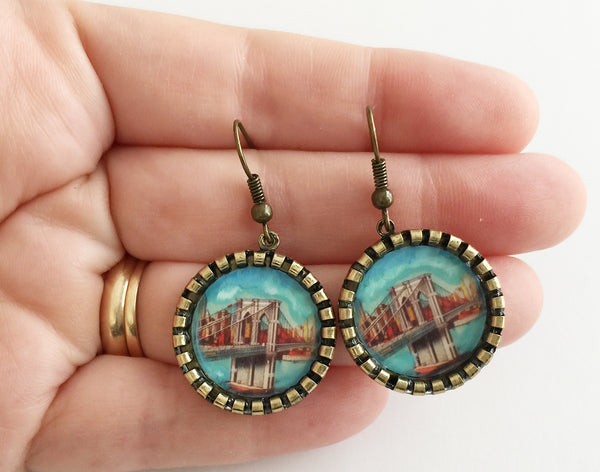 Brooklyn Bridge New York Earrings - Hollee