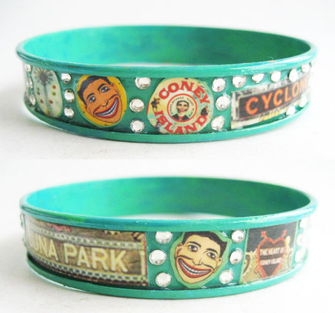 Coney Island Brooklyn NY Souvenir Bangle Bracelet