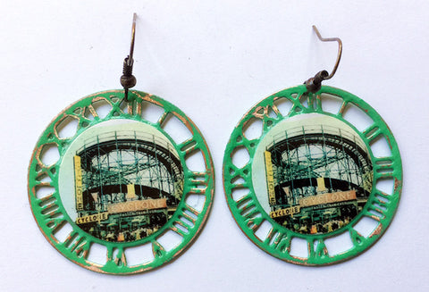 Coney Island Brooklyn Cyclone Rollercoaster Earrings
