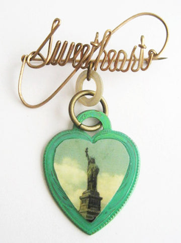 Statue of Liberty New York Souvenir Sweetheart Pin - Hollee