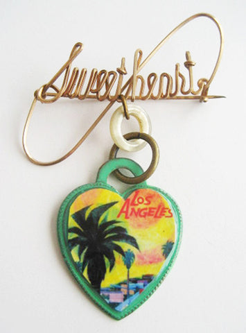 Los Angeles California Souvenir Sweetheart Pin