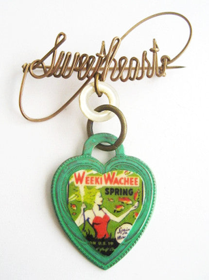 Weeki Wachee Mermaid Souvenir Sweetheart Pin