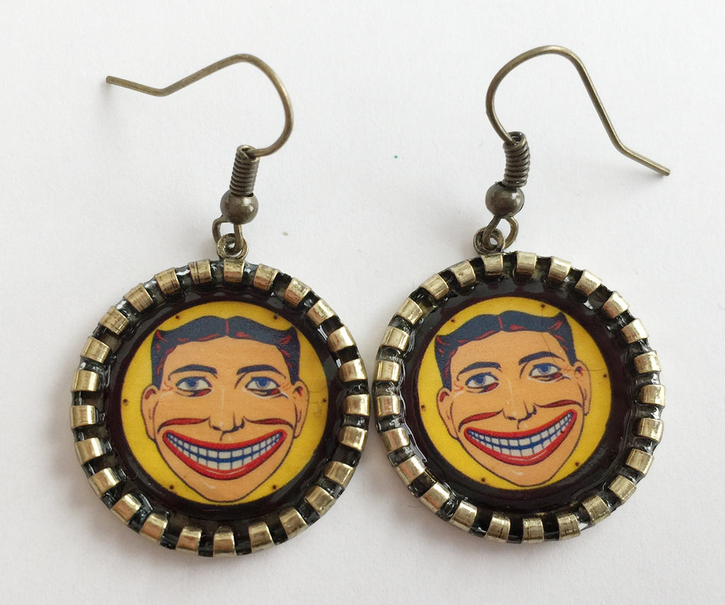 Coney Island Tillie Funny Face Earrings Brooklyn NY - Hollee
