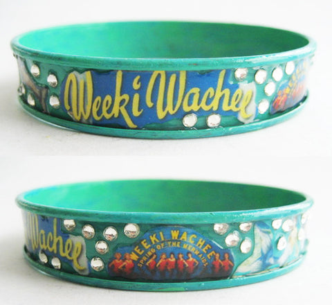 Weeki Wachee Mermaid Souvenir of Florida Bangle Bracelet