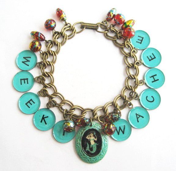Weeki Wachee Florida Mermaid Charm Bracelet