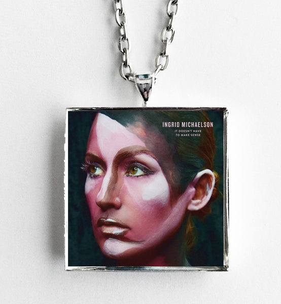 Ingrid Michaelson - It Doesn't Have to Make Sense - Album Cover Art Pendant Necklace - Hollee